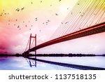vidyasagar setu   second... | Shutterstock . vector #1137518135