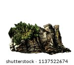 Stone Rock Of Boulders With...
