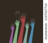 international youth day  hand... | Shutterstock .eps vector #1137527714