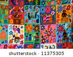 detail of a mexican blanket for ... | Shutterstock . vector #11375305