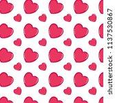 heart shape symbol of love... | Shutterstock .eps vector #1137530867