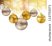 abstract beauty christmas and... | Shutterstock .eps vector #113753371