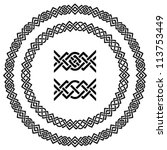 vector seamless ornamental knot ... | Shutterstock .eps vector #113753449
