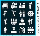 set of 16 people filled icons... | Shutterstock . vector #1137540017