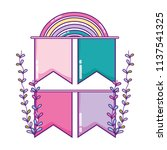ribbons with rainbow and...   Shutterstock .eps vector #1137541325