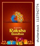 happy raksha bandhan indian... | Shutterstock .eps vector #1137542774