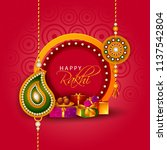 happy raksha bandhan indian... | Shutterstock .eps vector #1137542804