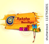 happy raksha bandhan indian... | Shutterstock .eps vector #1137542831