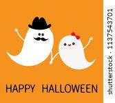 ghost spirit family set with... | Shutterstock .eps vector #1137543701