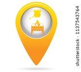 brazier and chicken icon.... | Shutterstock .eps vector #1137543764