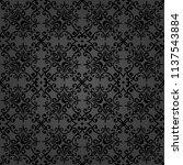 classic dark seamless vector... | Shutterstock .eps vector #1137543884