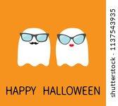 happy halloween. ghost spirit... | Shutterstock .eps vector #1137543935