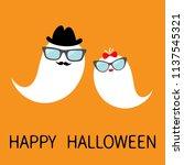 happy halloween. ghost spirit... | Shutterstock .eps vector #1137545321