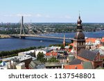 aerial view of riga with the...   Shutterstock . vector #1137548801