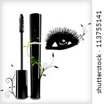 ink for eyelashes with ornament ... | Shutterstock .eps vector #113755141