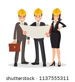 engineer customer and... | Shutterstock .eps vector #1137555311