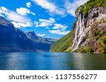 the seven sisters waterfall... | Shutterstock . vector #1137556277
