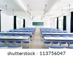 bright empty classroom with... | Shutterstock . vector #113756047