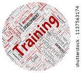 vector conceptual training ... | Shutterstock .eps vector #1137563174