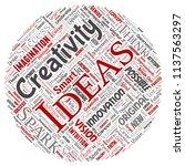 vector conceptual creative idea ... | Shutterstock .eps vector #1137563297