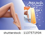 design of web banner with wax... | Shutterstock .eps vector #1137571934