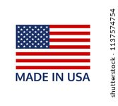made in usa logo or label with... | Shutterstock .eps vector #1137574754