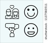 people related set of 4 icons... | Shutterstock . vector #1137583511