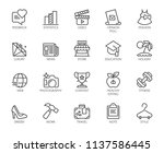 20 linear icons on fashion ...   Shutterstock .eps vector #1137586445