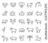 set of animals icon with simple ... | Shutterstock .eps vector #1137591191