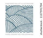 valley . vineyard and sunny... | Shutterstock .eps vector #1137591704
