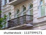facade of a historic building... | Shutterstock . vector #1137599171