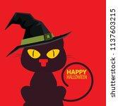 halloween element. black cats.... | Shutterstock .eps vector #1137603215