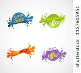 splatter banner colorful tags ... | Shutterstock .eps vector #1137605951
