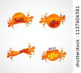 splatter banner orange tags ...   Shutterstock .eps vector #1137606581