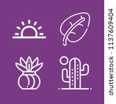 outline nature icon set such as ... | Shutterstock . vector #1137609404