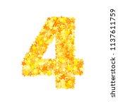 vector yellow stars font ... | Shutterstock .eps vector #1137611759