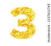 vector yellow stars font ... | Shutterstock .eps vector #1137611765