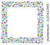vector colorful gem stones... | Shutterstock .eps vector #1137611945