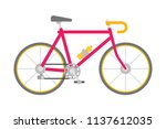 vector bicycle in flat style... | Shutterstock .eps vector #1137612035