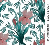 watercolor seamless pattern... | Shutterstock . vector #1137617324