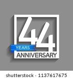 44 years anniversary...   Shutterstock .eps vector #1137617675