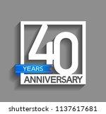 40 years anniversary... | Shutterstock .eps vector #1137617681