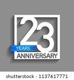 23 years anniversary...   Shutterstock .eps vector #1137617771