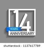 14 years anniversary...   Shutterstock .eps vector #1137617789