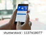 chiang mai. thailand. mar 28 ... | Shutterstock . vector #1137618077