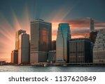 modern architecture of... | Shutterstock . vector #1137620849