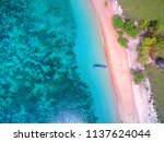 pink beach frome above | Shutterstock . vector #1137624044
