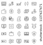 thin line vector icon set  ... | Shutterstock .eps vector #1137627671