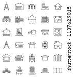 thin line vector icon set  ... | Shutterstock .eps vector #1137629015
