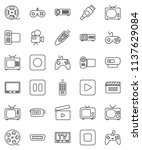 thin line vector icon set  ... | Shutterstock .eps vector #1137629084